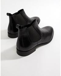 Stivali chelsea in pelle neri di Pier One