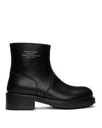 Stivali chelsea in pelle neri di Raf Simons