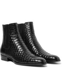 Stivali chelsea in pelle neri di Saint Laurent