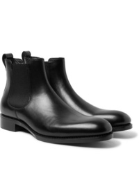 Stivali chelsea in pelle neri di Salle Privée