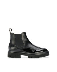 Stivali chelsea in pelle neri di Santoni