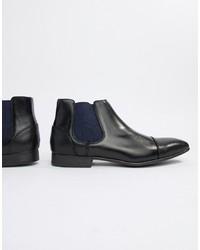 Stivali chelsea in pelle neri di Truffle Collection