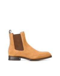 Stivali chelsea in pelle scamosciata marrone chiaro di Alexander McQueen