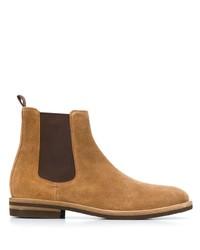 Stivali chelsea in pelle scamosciata marrone chiaro di Brunello Cucinelli