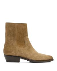 Stivali chelsea in pelle scamosciata marrone chiaro di Isabel Marant