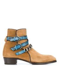 Stivali chelsea in pelle scamosciata marrone chiaro di Lidfort