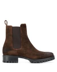 Stivali chelsea in pelle scamosciata marrone scuro di DSQUARED2
