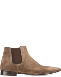 Stivali chelsea in pelle scamosciata marroni di Alberto Fasciani