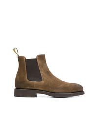 Stivali chelsea in pelle scamosciata marroni di Doucal's