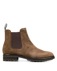 Stivali chelsea in pelle scamosciata marroni di Polo Ralph Lauren