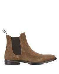 Stivali chelsea in pelle scamosciata marroni di Scarosso