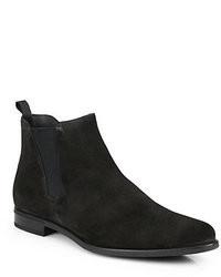 Stivali chelsea in pelle scamosciata neri