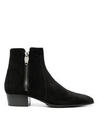 Stivali chelsea in pelle scamosciata neri di Balmain