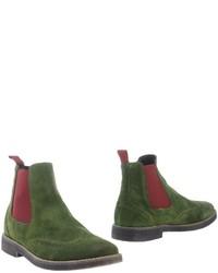 Stivali chelsea in pelle scamosciata verde scuro
