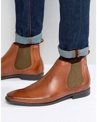 Stivali chelsea in pelle terracotta