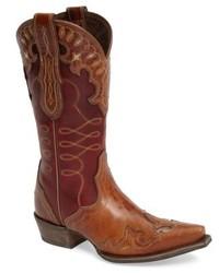 Stivali da cowboy in pelle marroni