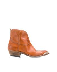 Stivali da cowboy in pelle terracotta di Golden Goose Deluxe Brand