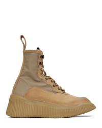 Stivali da lavoro di tela marrone chiaro