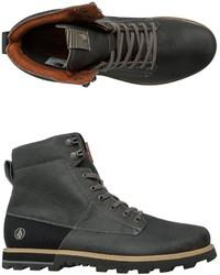 Stivali da lavoro in pelle grigio scuro