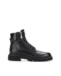 Stivali da lavoro in pelle neri di Balmain