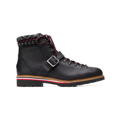 100% autentico 713de df3f5 €183, Stivali da lavoro in pelle neri di Tommy Hilfiger