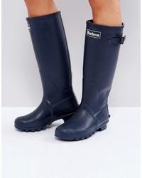 Stivali di gomma blu scuro di Barbour