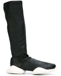 Stivali in pelle neri di adidas