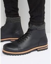 Stivali in pelle neri di Asos