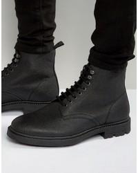 Stivali in pelle neri di Religion