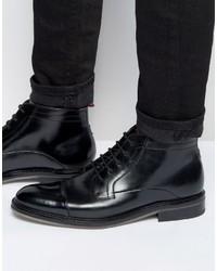 Stivali in pelle neri di Ted Baker