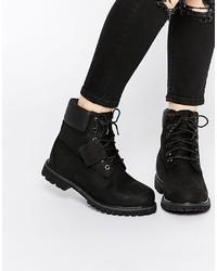 Stivali in pelle neri di Timberland