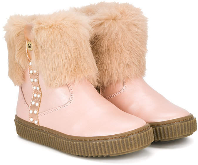 Stivali in pelle rosa