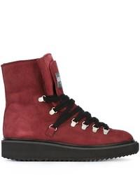 Stivali in pelle rossi di Kenzo