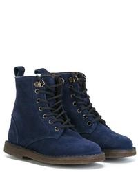Stivali in pelle scamosciata blu scuro di Pépé