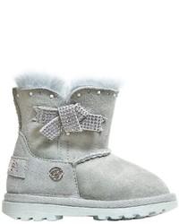 Stivali in pelle scamosciata grigi