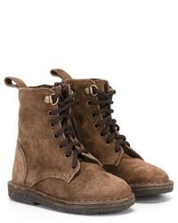 Stivali in pelle scamosciata marroni di Pépé