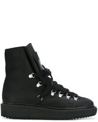 Stivali in pelle scamosciata neri di Kenzo