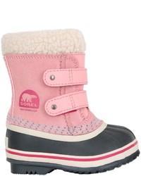 Stivali in pelle scamosciata rosa