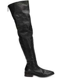 Stivali sopra il ginocchio in pelle neri di Marsèll