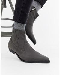 Stivali texani grigi di ASOS DESIGN