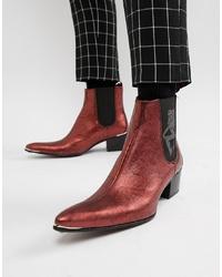 Stivali texani in pelle bordeaux di Jeffery West