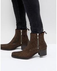 Stivali texani marrone scuro di Jeffery West