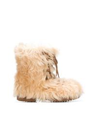 Stivali ugg marrone chiaro di Saint Laurent