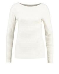 T-shirt a maniche lunghe a righe orizzontali bianca di Gap