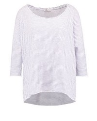 T-shirt a maniche lunghe a righe orizzontali bianca di LTB