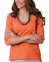 T shirt a maniche lunghe arancione original 1286151