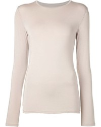 T-shirt a maniche lunghe beige
