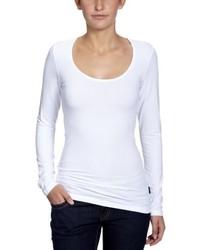 T-shirt a maniche lunghe bianca di Only