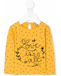 T-shirt a maniche lunghe gialla di Emile et Ida