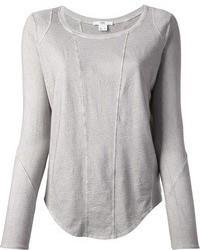 T shirt a maniche lunghe grigia original 1286763